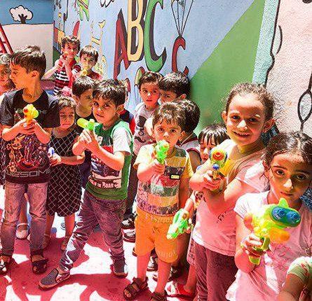 جشن آب پاشونک مهد کودک سهیل1
