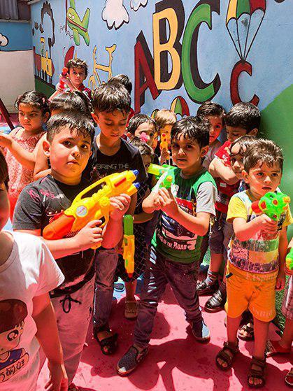 جشن آب پاشونک مهد کودک سهیل2