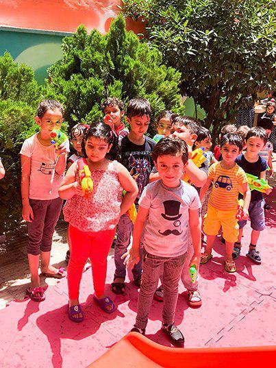 جشن آب پاشونک مهد کودک سهیل3
